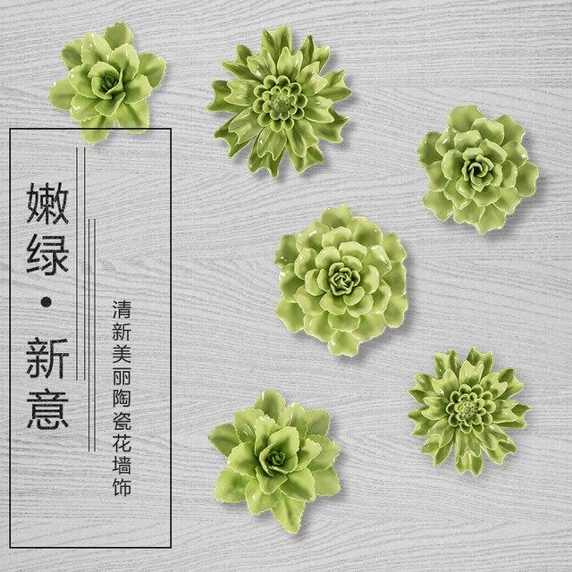 Зеленый цветы, декоративные настенные цветок блюда фарфоровые декоративные тарелки старинные домашнего декора ремесленных ремесел украшения комнаты