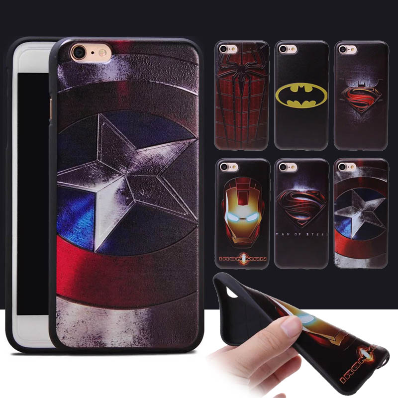 Marvel Avengers Iron Man America Captain <font><b>Super</b></font> <font><b>Hero</b></font> <font><b>Spiderman</b></font> <font><b>Case</b></font> <font><b>For</b></font> <font><b>iphone</b></font> 6S <font><b>6</b></font> 7 <font><b>Plus</b></font> 5S Soft TPU Phone <font><b>Cases</b></font> Silicone Cover