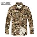 Camuflaje del ejército camisa casual hombre táctico militar ejército extraíble transpirable de secado rápido camisas de caza acu clothing moda para hombre