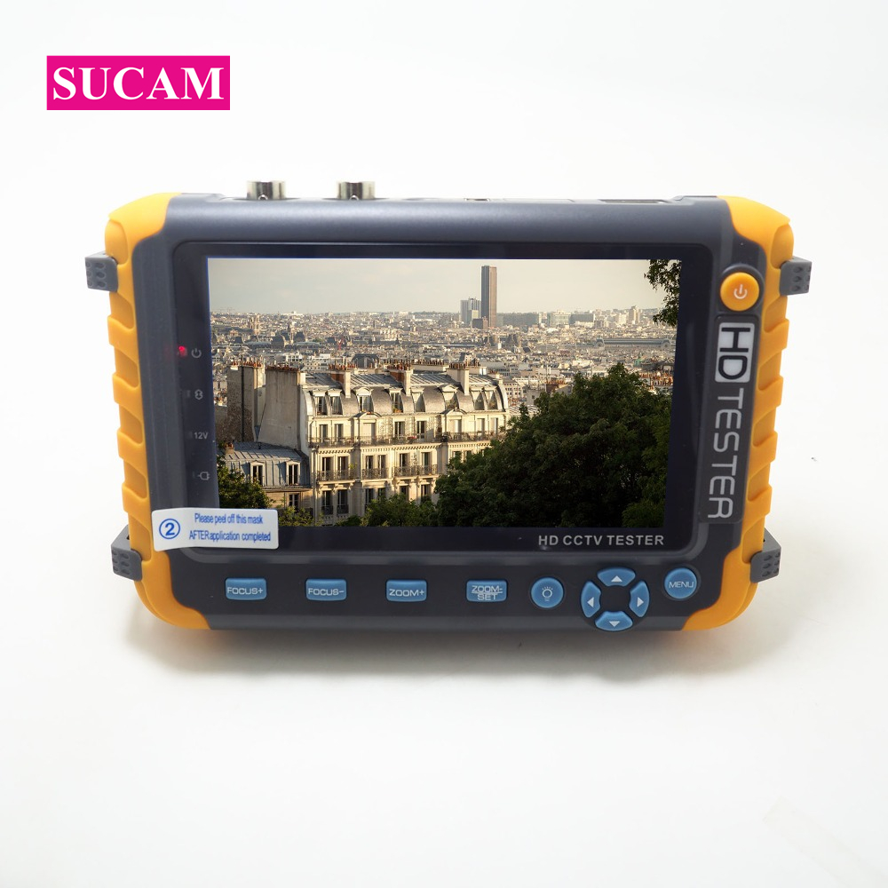 SUCAM 5MP 4 IN 1 AHD CCTV Camera Tester 5 Inch LCD Screen Monitor For AHD CVI,TVI CVBS Camera Testing Support Audio Video Test