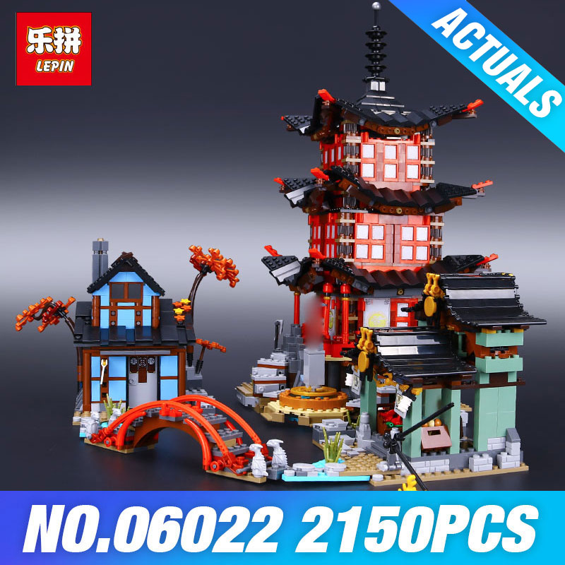 DHL Lepin 06022 2150Pcs Building Series The 70751 Temple of Airjitzu Set Building Blocks Bricks Toys For Kids As Birthday Gifts compatible ninja 70751 lepin 06022 2150pcs blocks ninja figure temple of airjitzu toys for children building bricks 70603 gifts