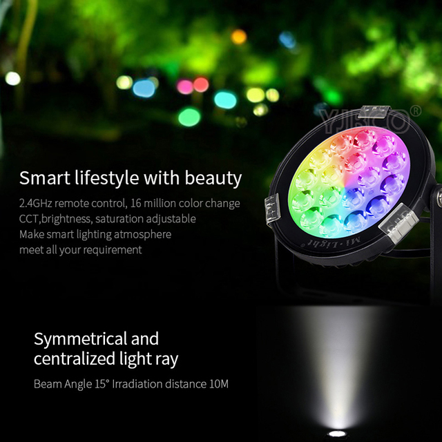 Milight 9w Rgb Cct Led Garden Light Dc24v Ac86 265v Ip65 Waterproof Outdoor