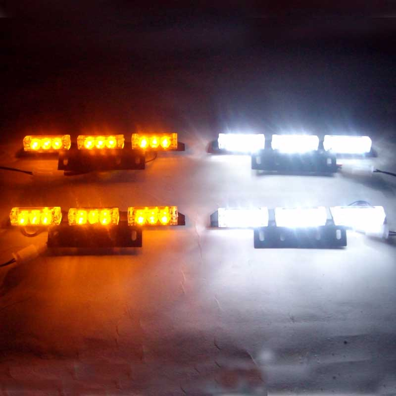 4*9 36 LED Warning Blinking Strobe Flash Light Deck Dash  LED EMERGENCY STROBE LIGHTS 3 Mode 12V Red Blue White Green Amber