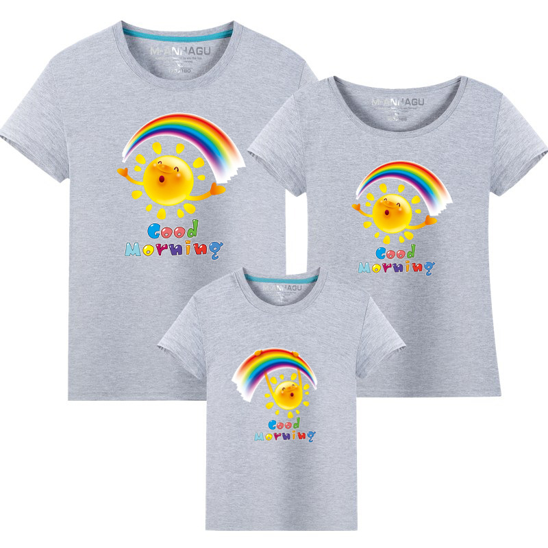 Summer Family Matching Outfits T shirt Mom Dad Son Daughter Rainbow T Shirts Family Mother Father Kids Matching outfits Tees (16)