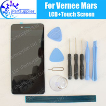 Vernee Mars LCD Display+Touch Screen 100% Original LCD Digitizer Glass Panel Replacement For Vernee Mars+tools+adhesive