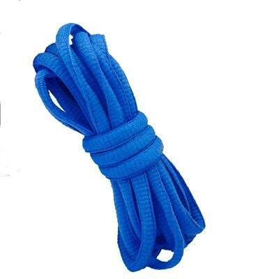 """180 см/7"""" длинный овальный плоской подошве Кружево Шнурки обуви Кружево F. спортивная обувь 24 Цвета для выбора нового - Цвет: No 16 sky blue"""