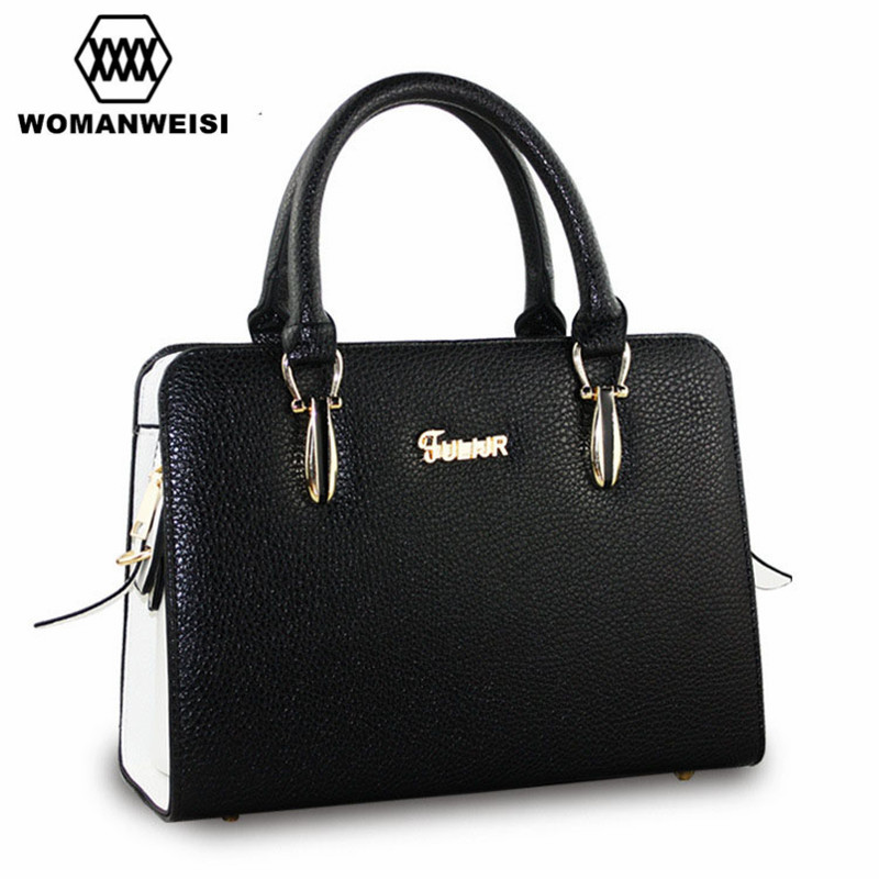 Woman Famous Brand Handbags 2017 New Designer 8 Colors High Quality PU Leather Women Messenger Cross-Body Bags Candy Hand Bag chispaulo woman bags brand 2017 famous brands designer handbags high quality cowhide genuine leather handbags messenger bag t351