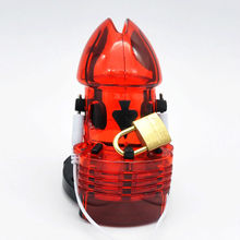 Chastity Sex Game Cage with Electro Shock for sissies crossdressers & shemales
