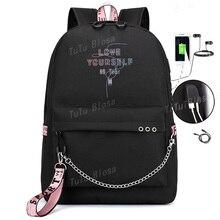 930e0772a203f Kochać siebie plecak torby szkolne dla nastoletnich dziewcząt Plecak na  ramię torby na płótnie plecak na