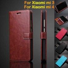 Phone Case For Xiaomi Mi4 Mi 4 M4 Flip Case Cover Ultra Thin Card Holder Wallet
