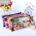 Wholesale Women Coin Purse,Clutch Wristlet , Ladies Wallets PU Leather Handbags, Coin bag Key Holder Small Women Bags Colorful