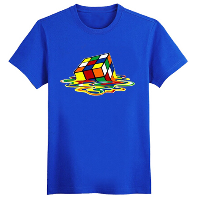 Rubik Rubix Cube Qube <font><b>Puzzle</b></font> Blocks Retro Gaming T Shirts Hot Sitcoms The Big Bang <font><b>Theory</b></font> T-Shirt Sheldon Cooper Cosplay Tshirt