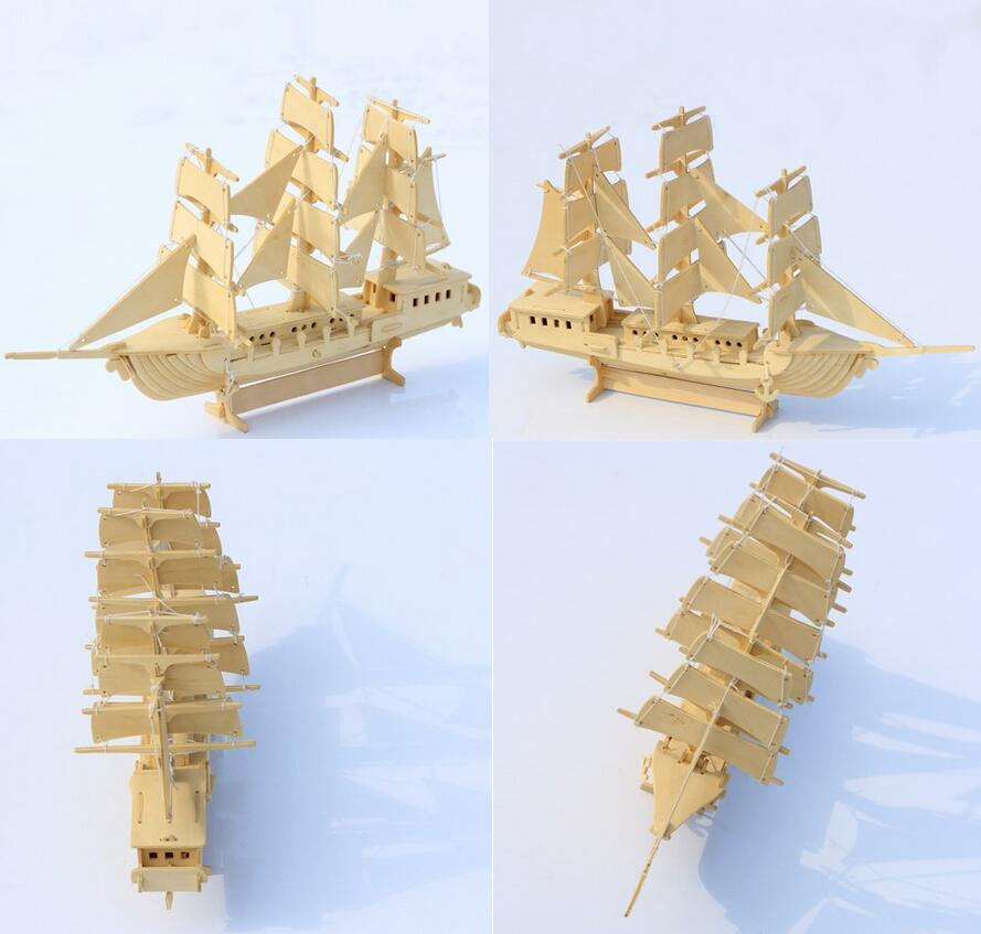 3D wooden model DIY puzzle toy baby gift hand work assemble wood game european sailing boat woodcraft construction kit ship 1pc3D wooden model DIY puzzle toy baby gift hand work assemble wood game european sailing boat woodcraft construction kit ship 1pc
