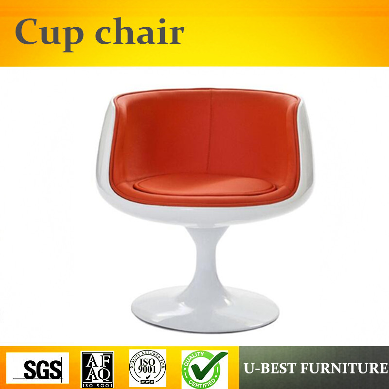 U-BEST Design Portable Coffee Cup Shaped Chair,fashionable Stylish design leisure fiberglass dora wine coffee shop Cup chair stylish cup