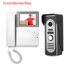 "Wholesale prices 4.3"" Wired Color Video Intercom Telephone Monitor + Metal Outdoor Camera DoorBell With IR COMS Night Vision Waterproof On Sale"