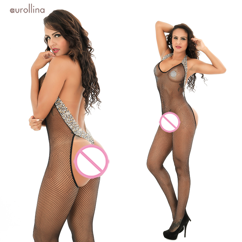 Shapers Good Nylon Mesh Lingerie Bodystocking For Woman Sexy Crotchless Under Garment Lovely Butterfly Prints Embroidery Adorable Jumpsuit