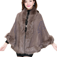 2015 Womens Fall Fashion Mantle Cloak Shawl 10 Colors Batwing Sleeve Warm Fashion Wool Cardigans KB774