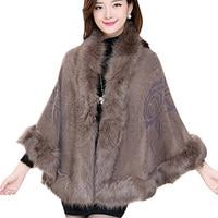 2015 Womens Fall Fashion Mantle Cloak Shawl 10 Colors Batwing Sleeve Warm Fashion Wool Cardigans KB774