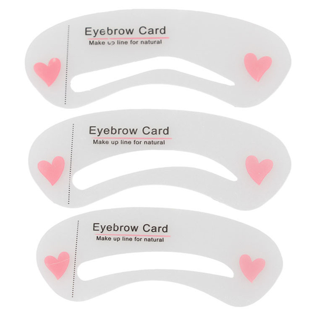 Fashion 3Pcs Eyebrow Stencils Makeups Eye Brow DIY Drawing Guide Styling Shaping Grooming Template Card Extensions Makeup Tools