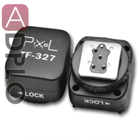Pixel tf-327 zapata convertidor pc sync socket convertir adaptador juego para nikon