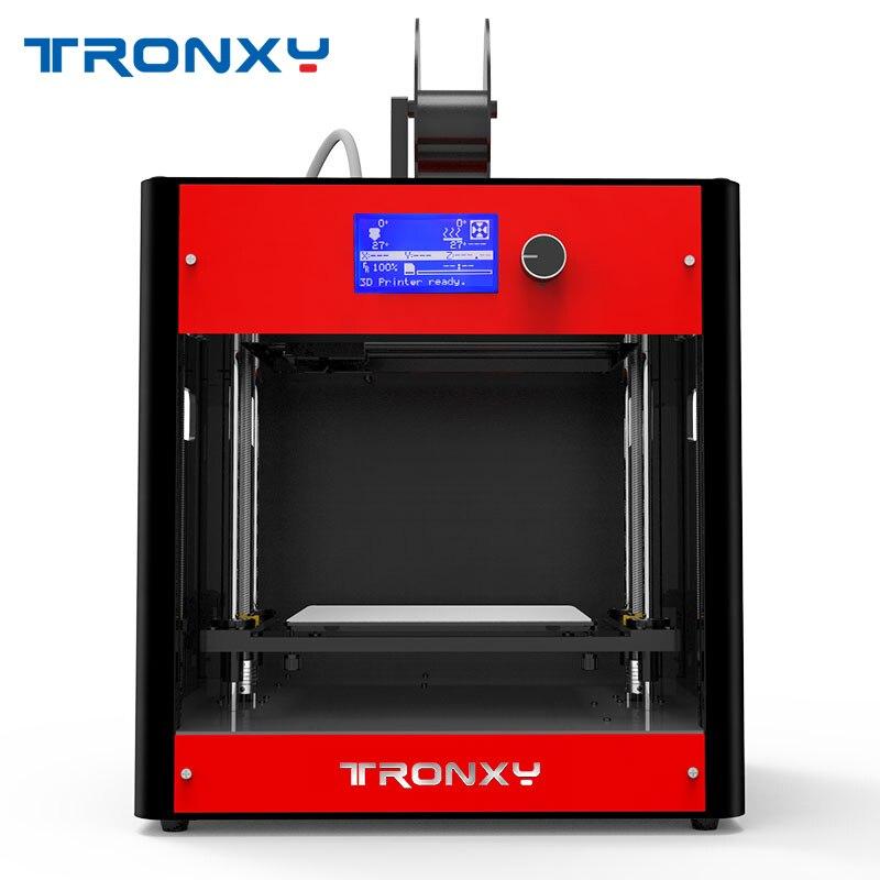 Tronxy красный 3D принтеры комплект FDM 3d металла двумя вентиляторами Dual Z ходового винта Heatbed 3D принтеры ing Размеры 210*210*210 мм цельнометаллическая