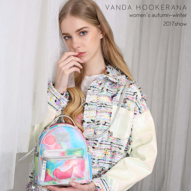 Vanda Hookerana 2017 Women Girl Mini Shoulder Bag Dream Rainbow Color Backpack Colorful Fashion Art Bag Personality Backpacks vanda robert s delight купить