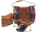 Горячие Продажи Итальянском Стиле Насосы Обувь И Соответствующие Сумки Установить Высокое качество Женская Обувь И Спортивная Сумка Установить Размер 37-43 Бесплатная Доставка