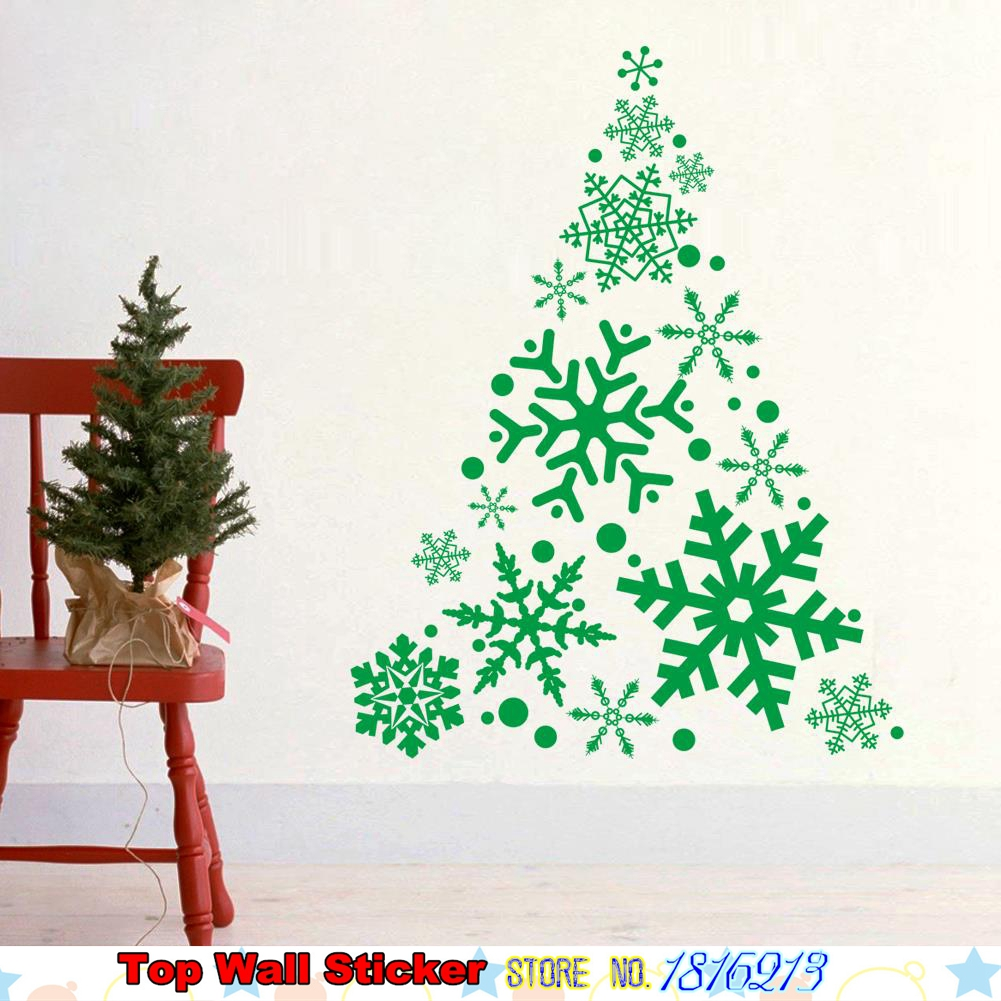 Buy large creative christmas tree for Christmas wall mural plastic