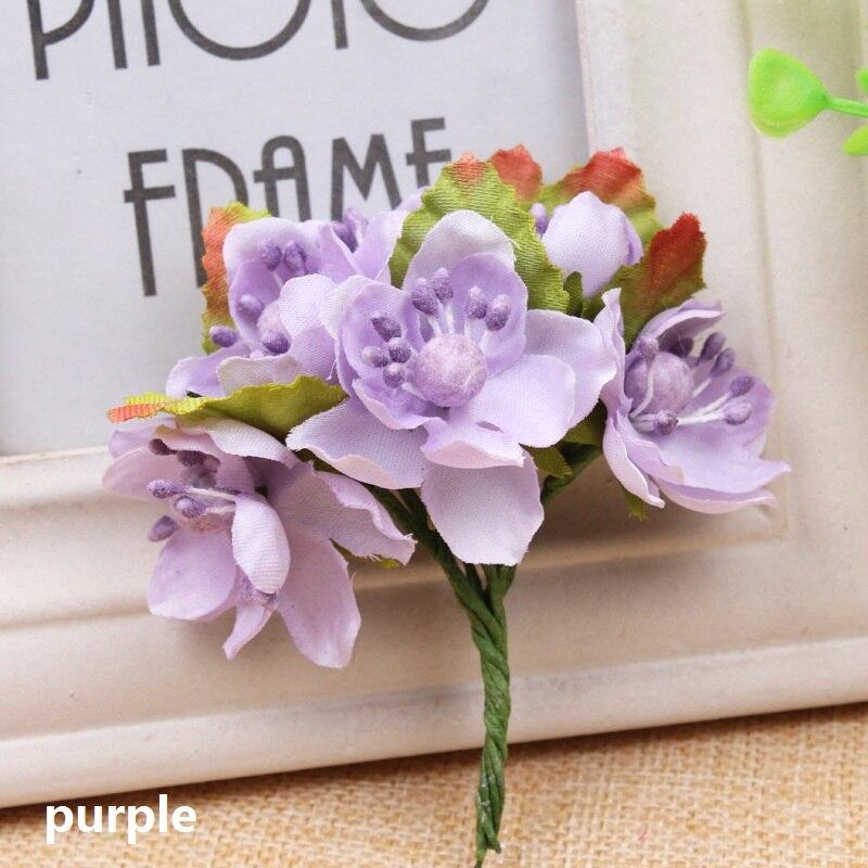 12pcs/lot Artificial Berry Flower Stamen Silk Flower Bouquet For Wedding Party Decor Home Garden Decorative Wreath Supplies