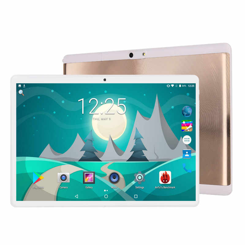 2019 MT8752 10,1 'de la tableta Android 9,0 8 Core 6GB + 64GB ROM Dual Cámara 8MP SIM tablet PC Wifi micro Usb GPS bluetooth teléfono