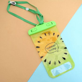 Cute Kiwi fruit Waterproof Cases Soft Silicone Case for iPhone 7 5.5 Universal Underwater Bags Travel Accessories Travel Accessories