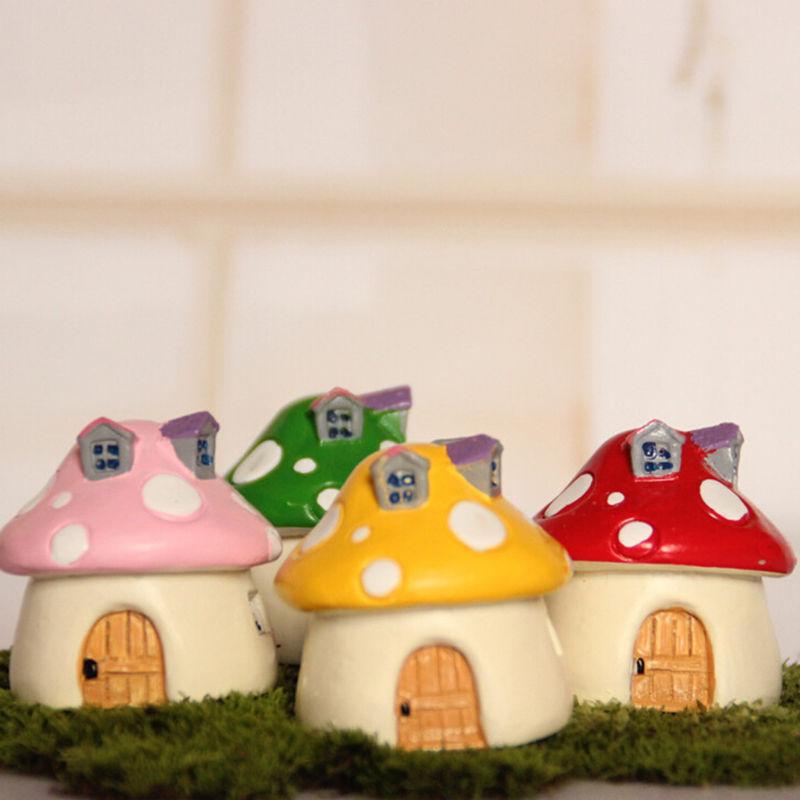 Gnome Garden: Mini Resin Mushroom Crafts Fairy Garden Gnome House Model