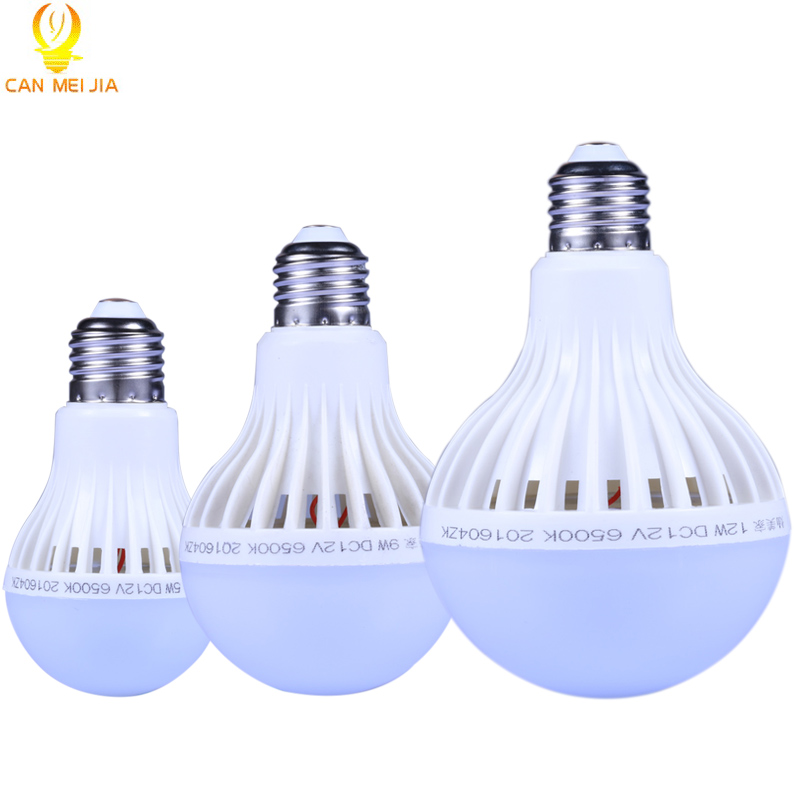 New CANMEIJIA 12V E27 LED Bulb Lamp 12 Volts Energy Saving Lights Bulb DC12V Bombillas Led Camp for Solar Motor Home Bulb