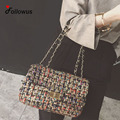 Wool Colorful  Messenger Bags Women 2016 Chain Elegant Hasp Flap Fashion Crossbody Bag