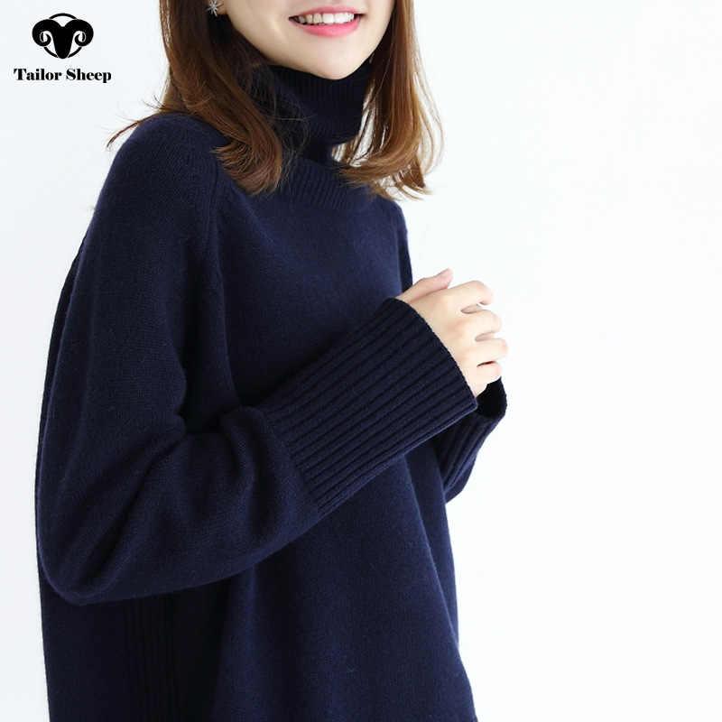 2019 ฤดูหนาวหนาเสื้อขนสัตว์ผู้หญิงแขนยาวถักเสื้อกันหนาวหญิงหลวมเสื้อกันหนาว