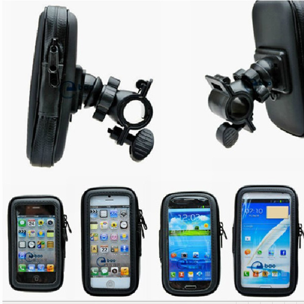 Universal Bike Bicycle Phone bags Handle Phone Mount Cradle Holder CellPhone Motorcycle Handlebar Waterproof bag Case front bags
