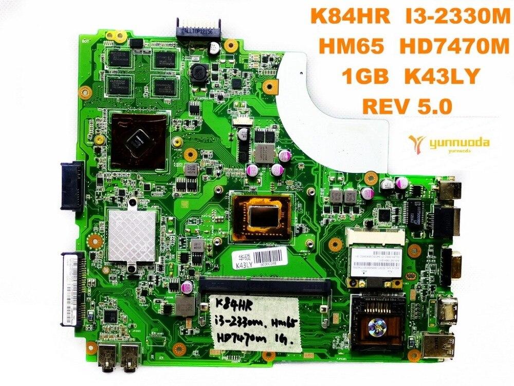 Original for ASUS K84HR laptop motherboard K84HR  I3-2330M  HM65  HD7470M  1GB  K43LY  REV 5.0  tested good free shipping Original for ASUS K84HR laptop motherboard K84HR  I3-2330M  HM65  HD7470M  1GB  K43LY  REV 5.0  tested good free shipping