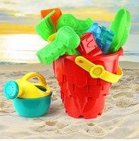6PCS Castle Sand Clay Mold Portable Baby Children Kids Educational Mould Toys Building Sights Sandcastle Beach
