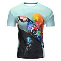 MKBH Funny Wolf T Shirt Men Cartoon Print Tee Black White 100 Cotton T Shirt Summer