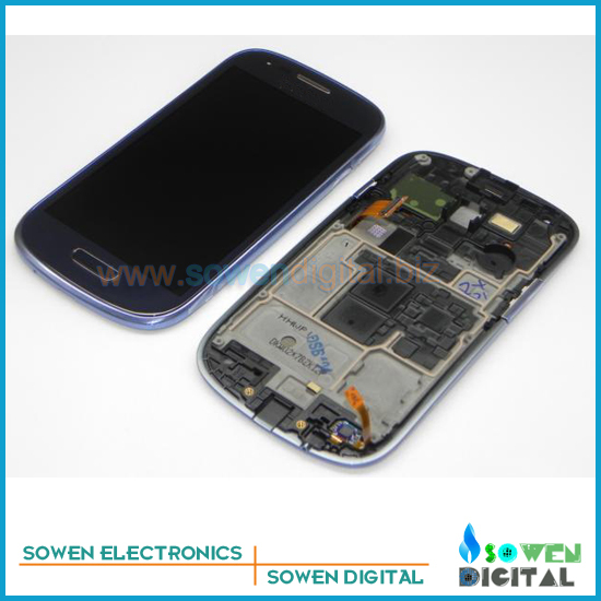 ФОТО LCD Screen with Touch Screen with Bezel frame for Samsung Galaxy S3 mini i8190 Full Set with open tools, Blue White