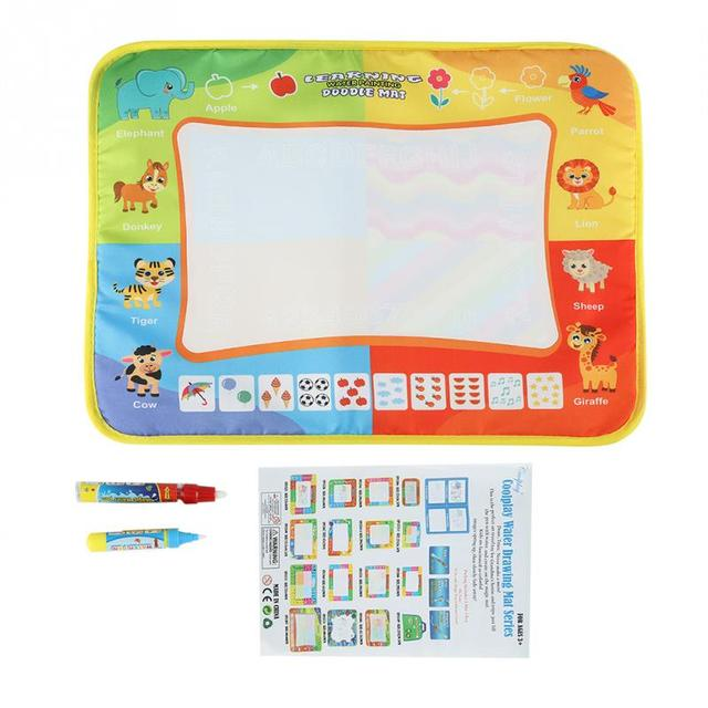 Baby Drawing Mat Kids Water Painting Mat With 2 Pens Learning