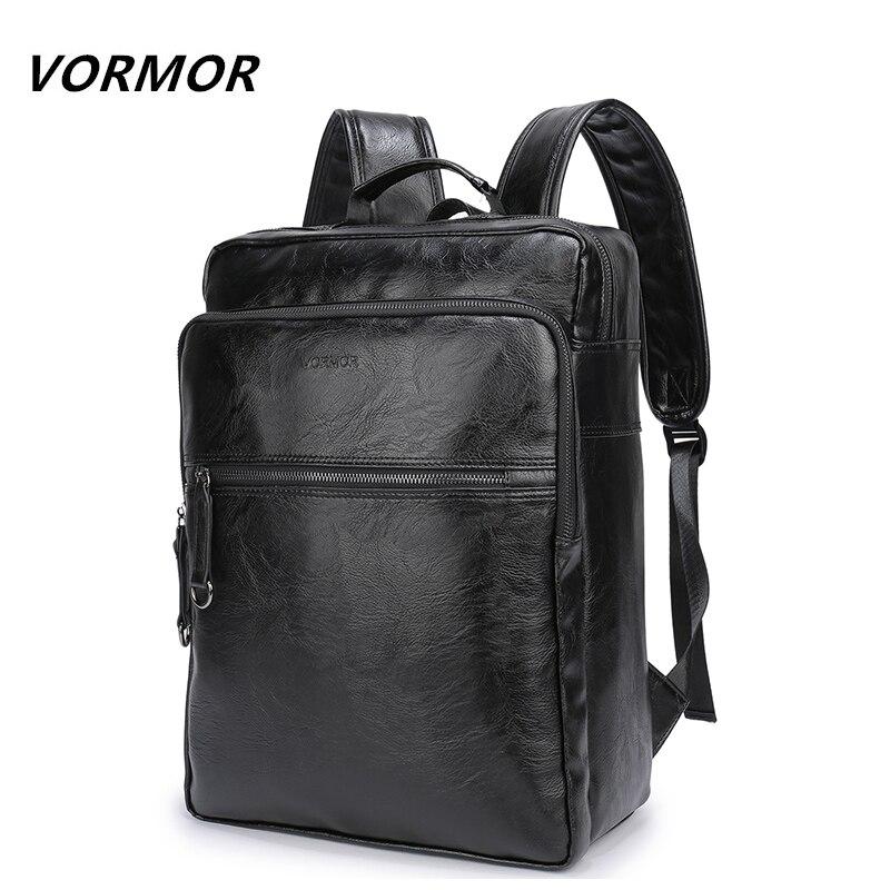 2018 VORMOR Brand waterproof 15.6 inch laptop backpack men PU leather backpacks for teenager Men Casual Daypacks mochila male fleur b пиджак