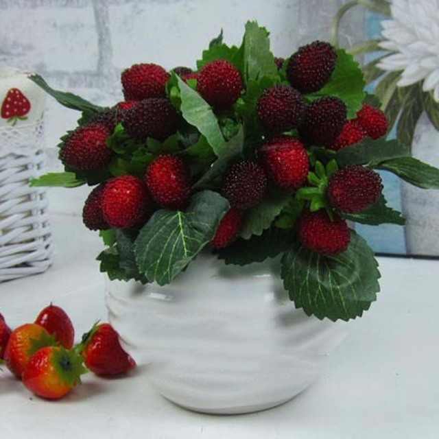 Красивая 9 фрукты украшение цветок искусственный фруктовые весло клубника фото реквизит Искусственные растения Home Decor