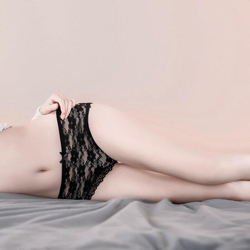 3d89d94a5f Comprar Bragas de encaje de Color caramelo para mujer ropa interior Sexy  para Niñas Ropa interior de algodón entrepierna transpirable ropa interior  sin ...