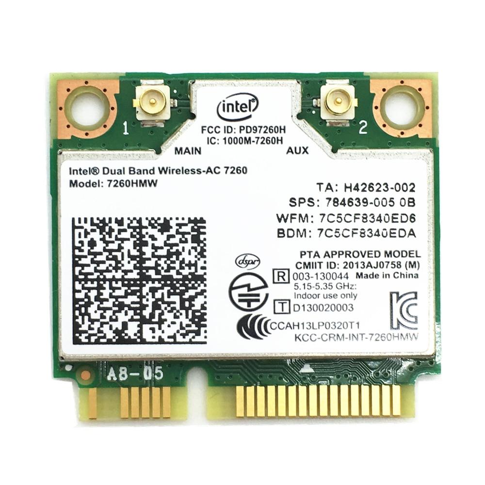 7260HMW Dual Band Wireless Intel 7260 7260HMW 802.11ac 867Mbps Bluetooth 4.0 Wireless WIFI Card Mini PCIE for 840 ZBOOK 14 15 17|wireless wifi card|7260hmw 802.11ac|intel 7260 - title=