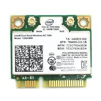 7260hmw dualband wireless intel 7260 7260hmw 802.11ac 867 mbps bluetooth 4 0 Drahtlose WIFI Karte Mini PCIE für 840 ZBOOK 14 15 17-in Netzwerkkarten aus Computer und Büro bei