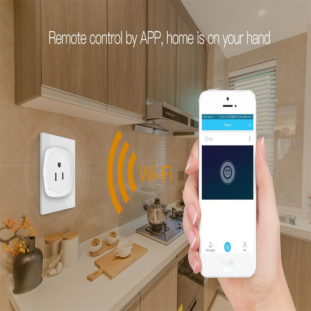 Smart Home WIFI Switch for Apple Homekit Vstarcam Smart Socket Plug fr ALexa Echo Google Home EU US Adapter Voice Remote Control in Home Automation Modules from Consumer Electronics