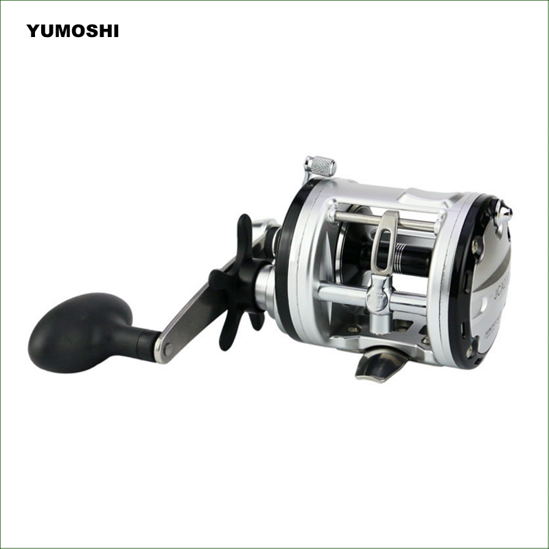 JCA Series Trolling Reel Right Hand Cast Drum Fishing Reel Saltwater Baitcasting Reel Casting Boat Fishing Reel trolling reel 9 1bb drum wheel carp baitcasting reels centrifugal brake casting saltwater fishing reel super power drag 30kg