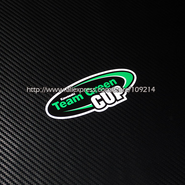 Hot sale Kawasaki Team Green Cup helmet motorcycle Sticker Decals Waterproof 20