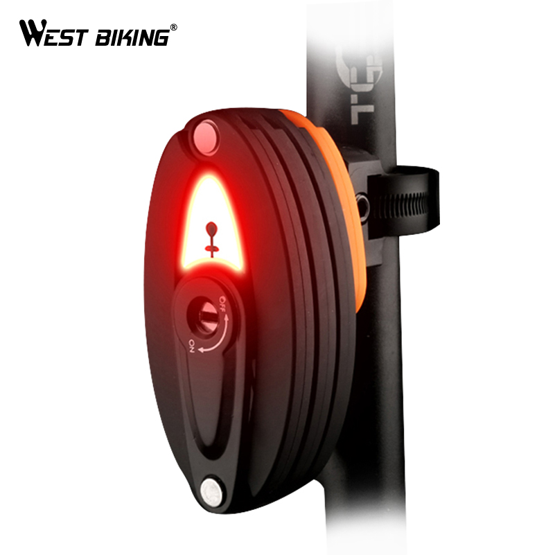 WEST BIKING New Foldable Bicycle Lock With Tail Light Alloy Steel Anti-Theft Lock Rear Light High Strength Safety Lock 85 CM abus newest top quality bordo lite 6050 85 professional cycling bike anti theft foldable lock bicycle cycle biking fold lock